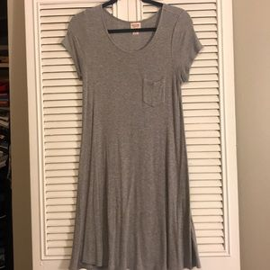 Mossimo cotton terry grey dress with pocket